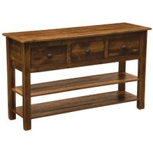 See Details - Three Drawer Console Table with two shelves