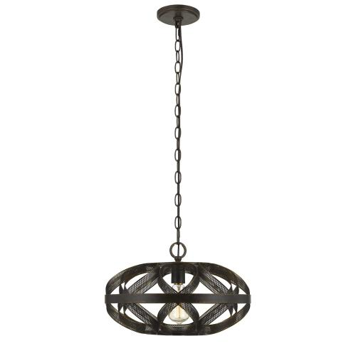 60W Alma Metal Mesh Pendant Fixture (Edison Bulb Not included)