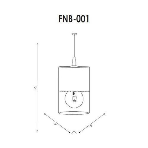 """Finsbury FNB-001 7.5""""H x 5""""W x 5""""D"""
