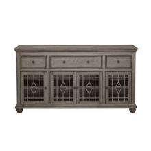 Ash grey kd 4 door 3 drawer console