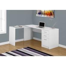 See Details - COMPUTER DESK - WHITE CORNER WITH TEMPERED GLASS