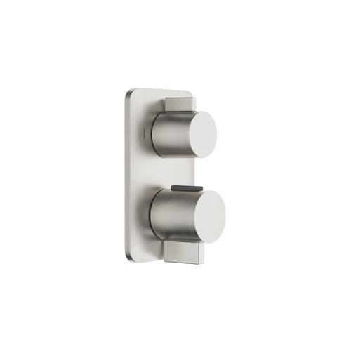 Dornbracht - Concealed thermostat with two-way volume control - platinum matte