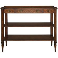 Hecuba Lacquer Wood Console Table - Medium Walnut