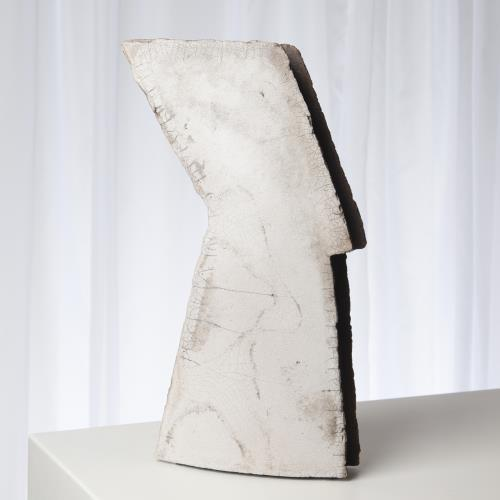 Wing Sculpture-Raku-Left