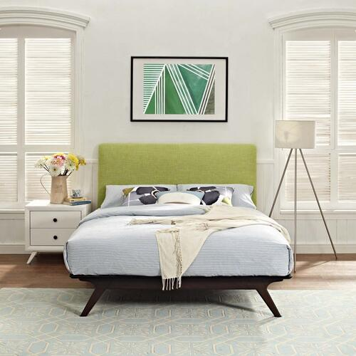 Tracy Queen Bed in Cappuccino Green