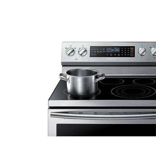 5.9 cu. ft. Freestanding Electric Range with True Convection & Steam Assist in Stainless Steel