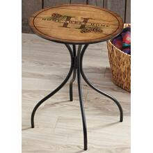 Home Sweet Home-Pinecones - Metal Side Table
