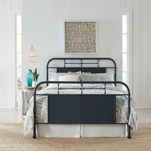 Queen Metal Bed- Navy