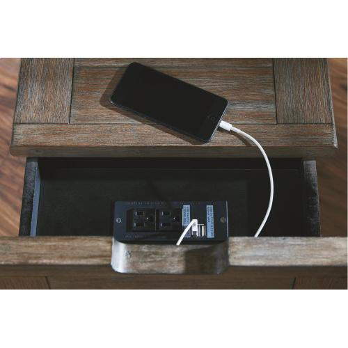 Tyler Creek Chairside End Table With Usb Ports & Outlets