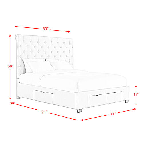 Waldorf King Upholstered Storage Bed