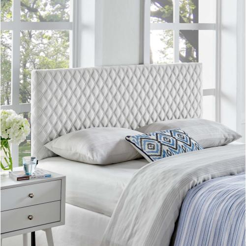 Angela King Performance Velvet Headboard in Light Gray