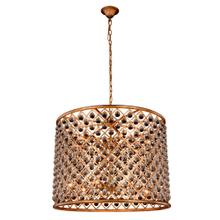 Madison 12 light Golden Iron Chandelier Clear Royal Cut Crystal