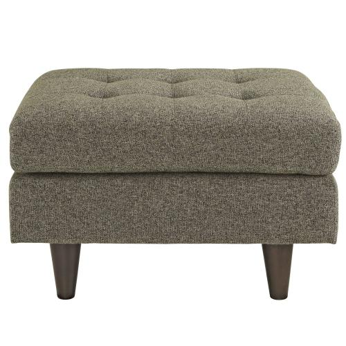 Modway - Empress Upholstered Fabric Ottoman in Oatmeal