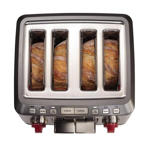 4 Slice Toaster - Red Knob