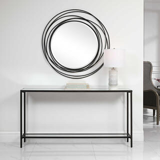 See Details - Hayley Console Table, Black