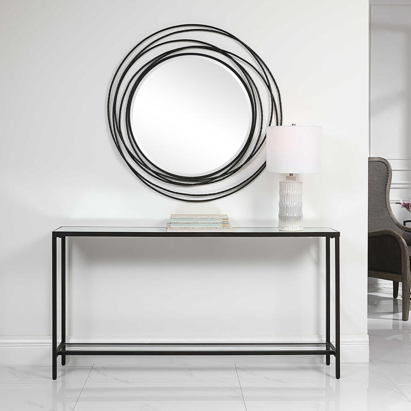 Hayley Console Table, Black