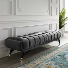 Adept Performance Velvet Bench in Gray