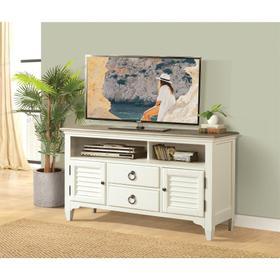 Myra - 54-inch TV Console - Natural/paperwhite Finish