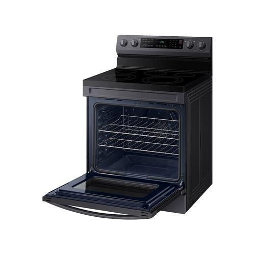 6.3 cu. ft. Smart Freestanding Electric Range with No-Preheat Air Fry & Convection in Black Stainless Steel