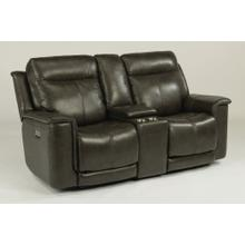 Miller Power Reclining Loveseat with Console & Power Headrests - 204-04 Leather Vinyl