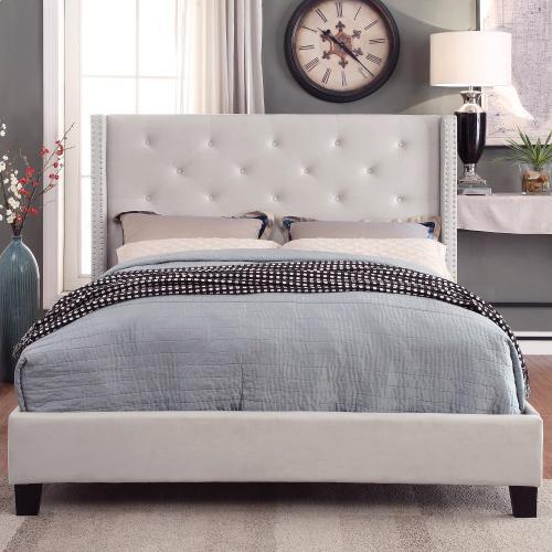 "Lino 78"" King Platform Bed in Ivory"
