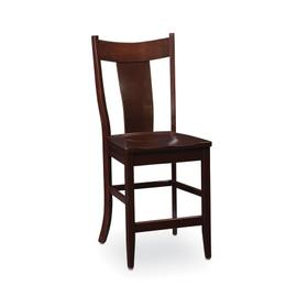 Arnold Stationary Barstool, Wood Seat