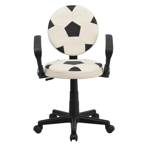 Gallery - Soccer Swivel Task Office Chair with Arms