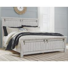 Brashland King Panel Bed White