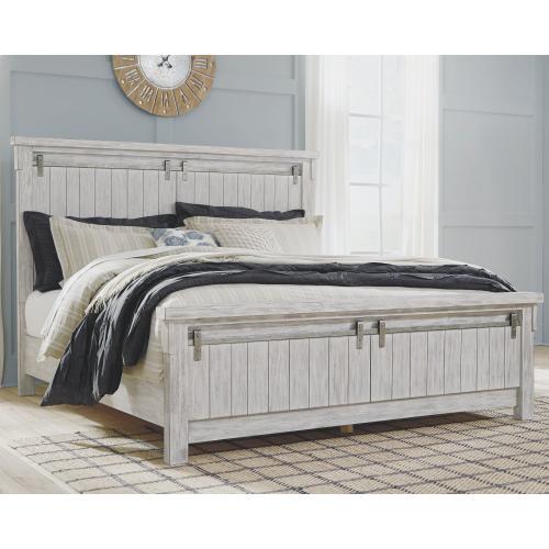 Brashland King Panel Bed White