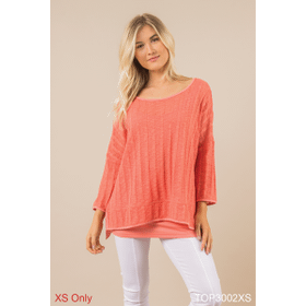 Breath Easy Sweater Top - XS (3 pc. ppk.)