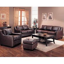 LOVESEAT/ BROWN FINISH 60-1/2''Lx38''Wx36''