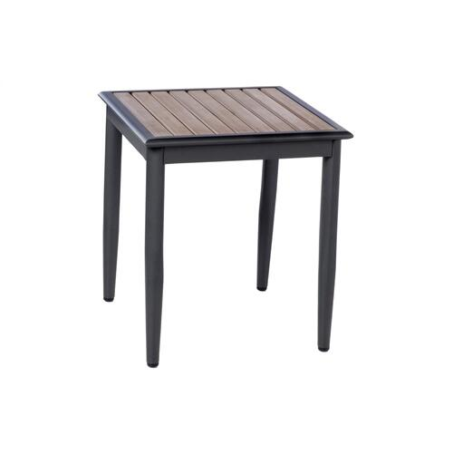 "Oden 19"" Square Aluminum / Polywood Side Table"