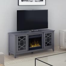 """View Product - Clarion TV Stand for TVs up to 60"""" with Electric Fireplace, Cool Gray"""