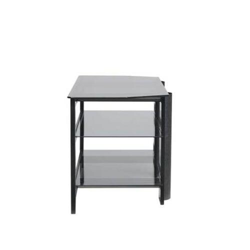 Product Image - Black Video Stand Contemporary design and solid construction come together to create strength and beauty