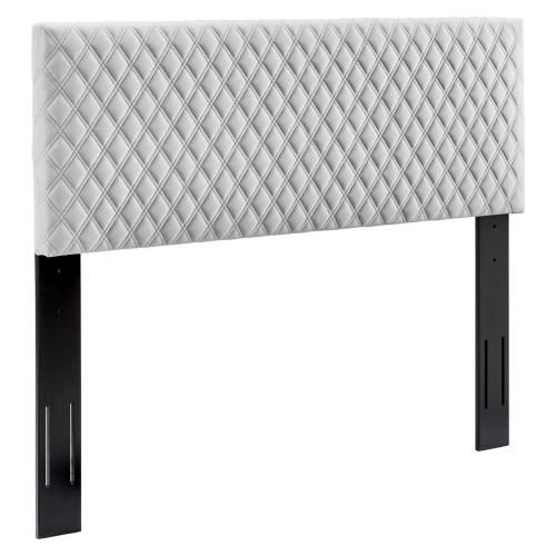 Angela Full/Queen Performance Velvet Headboard in Light Gray