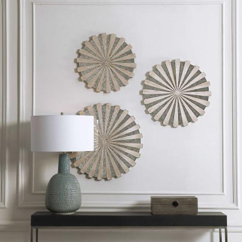 Daisies Mirrored Wall Decor, S/3