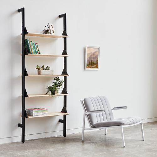 Product Image - Branch-1 Shelving Unit Black Uprights Black Brackets Black Shelves