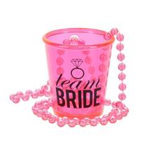 """See Details - """"Team Bride"""" 2 oz. Shot Glass Necklace"""