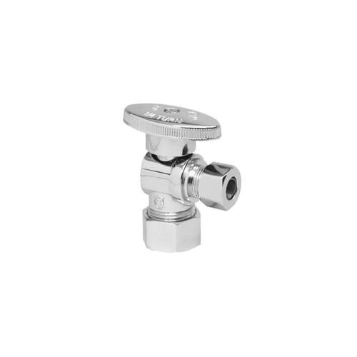 Mountain Plumbing - Brass Oval Handle with 1/4 Turn Ball Valve - Lead Free - Angle - Pewter
