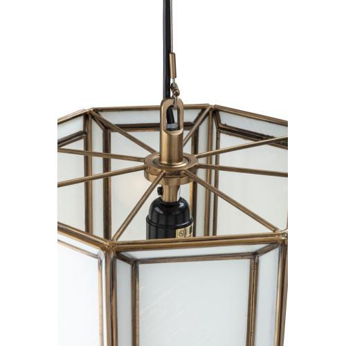 Reed White Glass Pendant Light