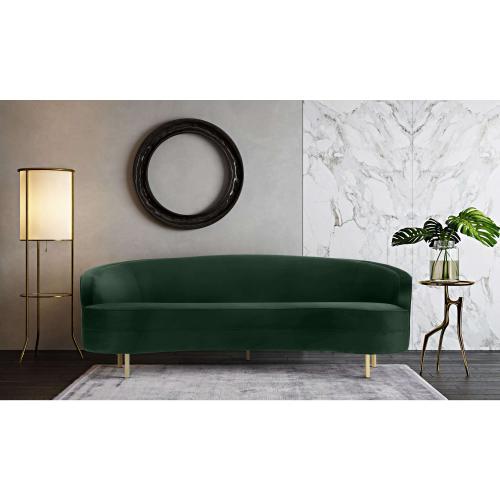 Tov Furniture - Baila Green Velvet Sofa