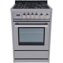 Galanz 24-In. Gas Slide-In Range in Stainless Steel