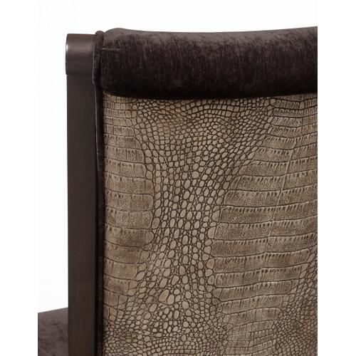 Upholstered Dining Side Chair in Dark Charcoal Grey