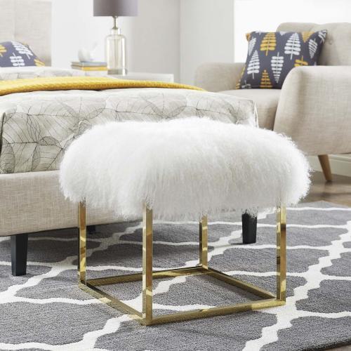 Anticipate Ottoman in Gold White
