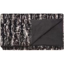 """Fur N9508 Black/silver 50"""" X 70"""" Throw Blanket"""