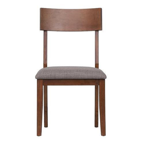 Dining Chairs w/Padded Performance Fabric Seat - Mid Century (Set of 2)