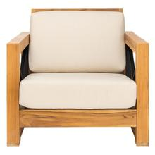 See Details - Curacao Outdoor Teak Club Chair - Natural / White