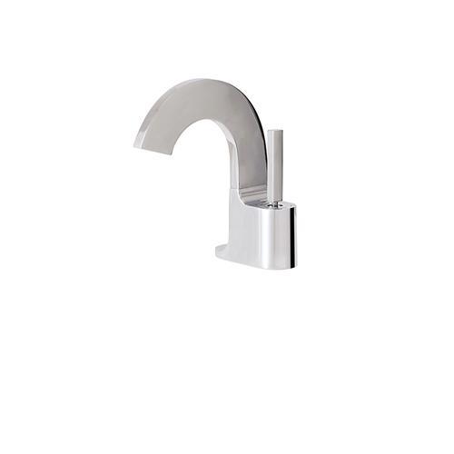 Short single-hole lavatory faucet