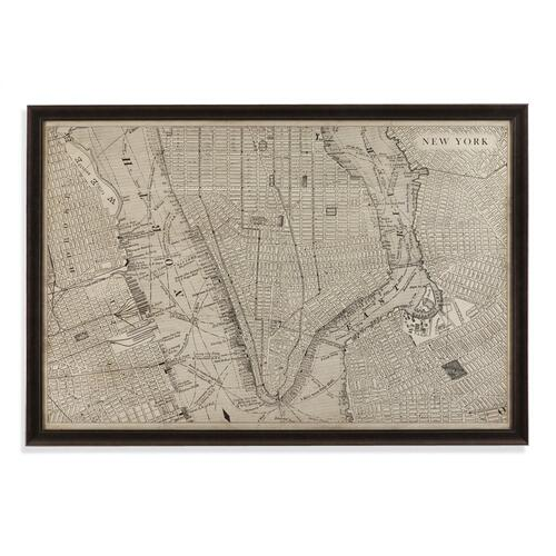 Vintage Map of New York