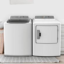 View Product - TOP-LOAD WASHER DRYER SET Washer 4.1 & Dryer 6.7 CU. FT. CAPACITY (Electric) FINISH: White
